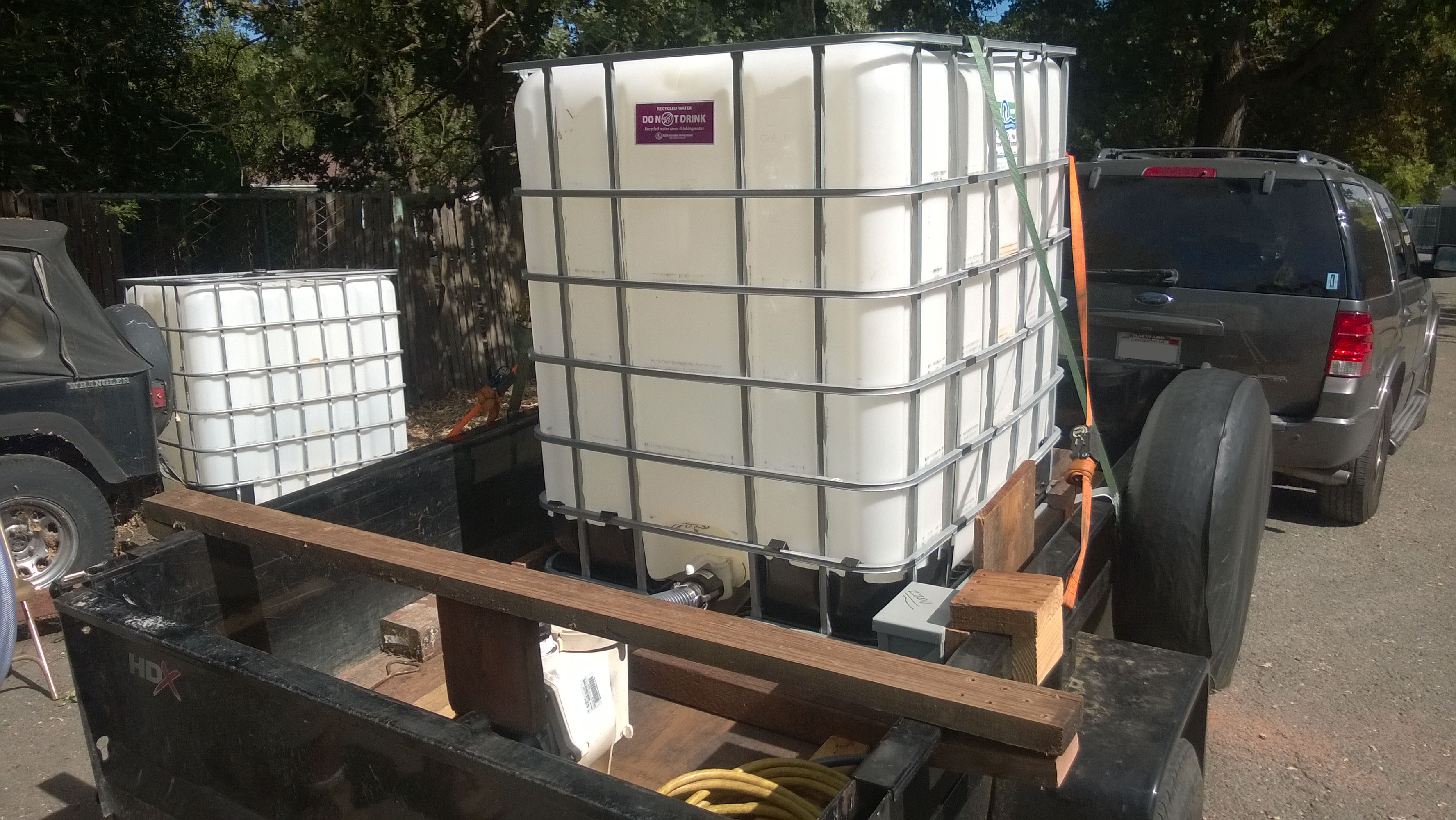 275 gallon tote vs Water Bladder vs 55 gallon barrel RecycledH2O