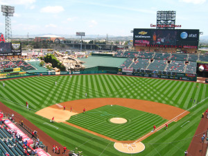 Angels of Anaheim stadium.