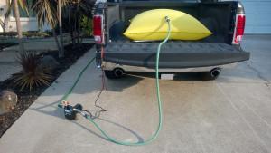 Full setup in driveway.