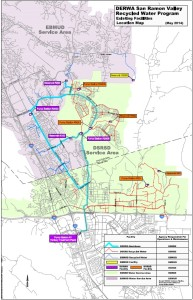 Recycled water map for San Ramon