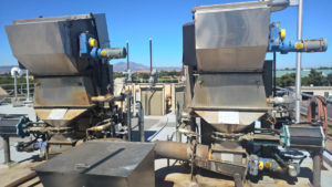 Barscreens collect trash from sewage at front of the treatment plant.