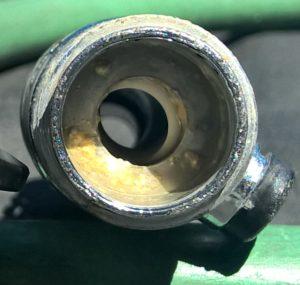 Salt deposits kept valve from fully opening.