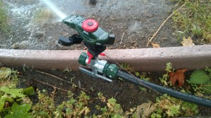 Does drip irrigation piping work as a garden hose?