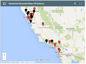 Residential Recycled Water Fill Station Map