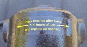 Label on back of pump.